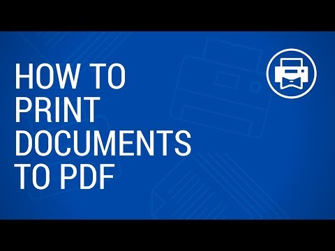 How to print to PDF (images, Excel, Word documents and XPS files)