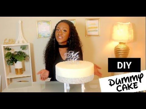 DIY How to make a Dummy Cake with Fondant | Step by Step Guide | Wedding Cake | Chanelle Novosey