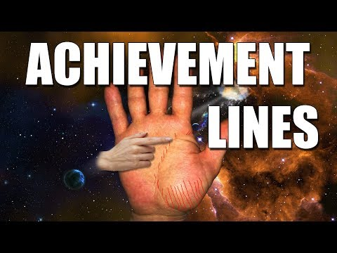 ACHIEVEMENT LINES Male Palm Reading  Palmistry #176