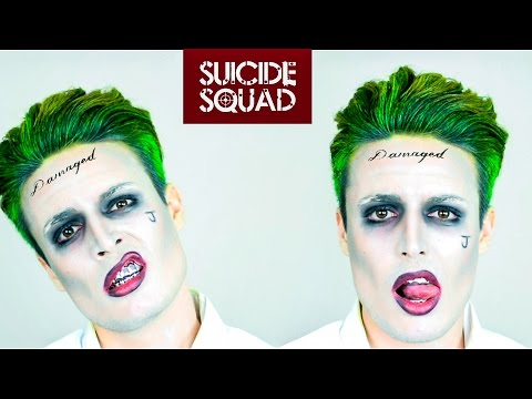 The Joker from Suicide Squad Hairstyle Tutorial + Makeup | Slick Back Hair