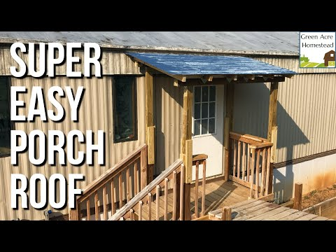 Scrap Wood Build:  Porch Roof