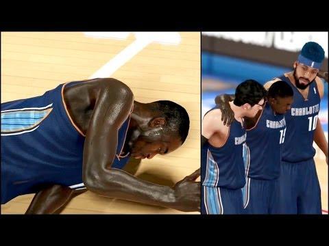 NBA 2k14 MyCAREER Playoffs PS4 - Game 4 Kemba Walker Seriously Injured