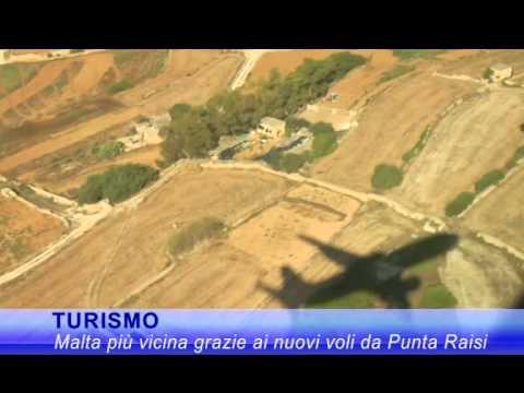 Tv7 Turismo: Da giugno nuovi collegamenti aerei Malta Palermo