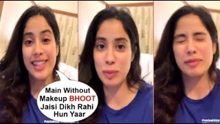 Jhanvi Kapoor's CUTE Live Video Making FUN Of Her Looks While Talking With Fans