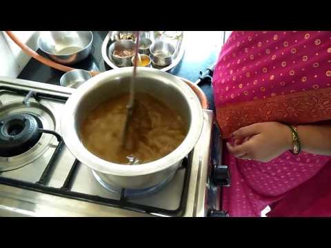 How to Make Puran Poli Katachi Aamti in Marathi
