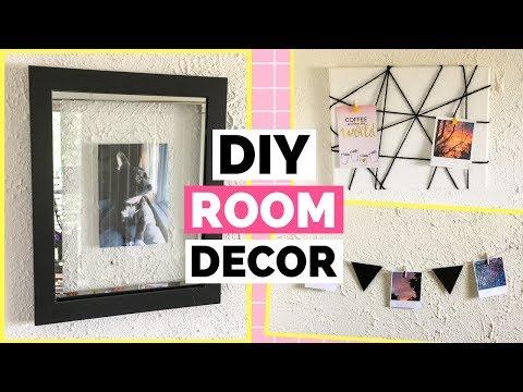 3 Cheap & Easy DIY Room Decor Ideas | DIY Floating Frame, DIY Memo Board, & a DIY Picture Garland