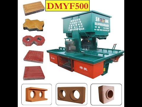 DMYF500 hydraulic clay brick machine/interlocking and paver/curbstone machine