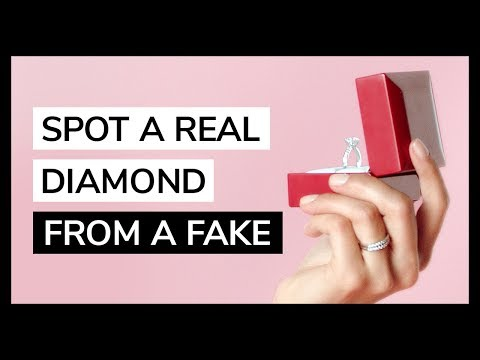 How to Spot a Real Diamond from a Fake by JamesAllen.com | Featuring HowHeAsked