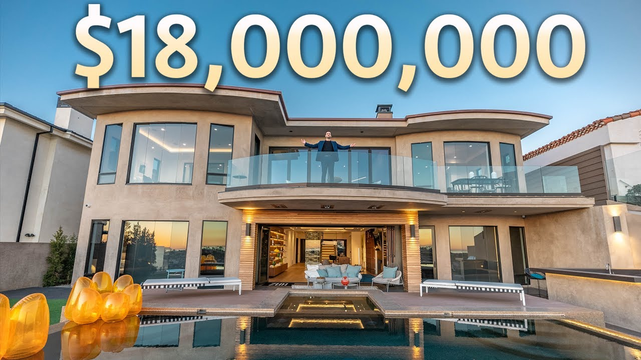 Touring an $18,000,000 California Modern Home with Amazing Ocean & Harbor Views!