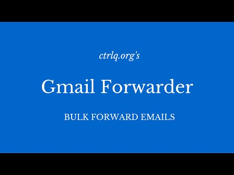 Mail Forwarder for Gmail