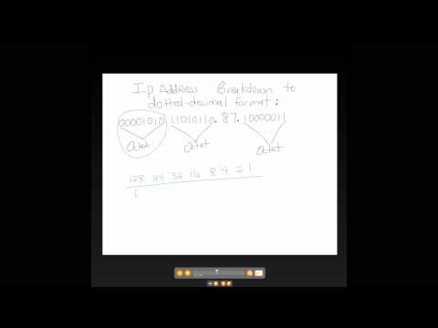 IP Address from Binary to Dotted Decimal Format 3 of 6