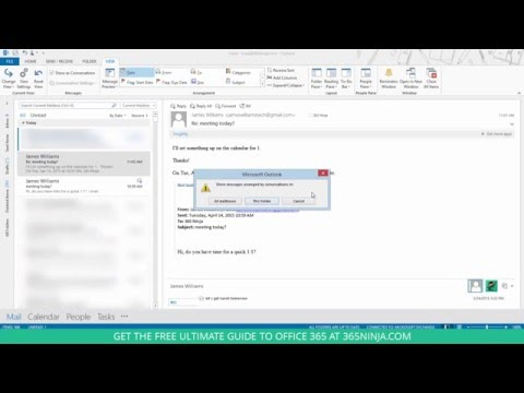 Group emails into conversations in Outlook 2013