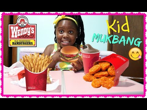 WENDY'S MUKBANG 4 FOR $4 | KID EATING SHOW