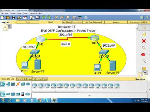 IPv6 OSPF Configuration In Packet Tracer - Part 38   CCNA 200-125 (Routing & Switching)