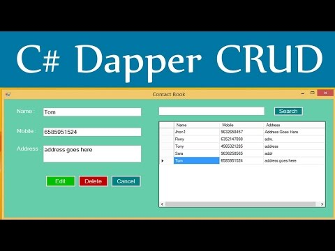 Dapper CRUD - Insert Update Delete View Search With C# And Sql Server DataBase