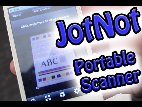 JotNot App Review (Portable Scanner)
