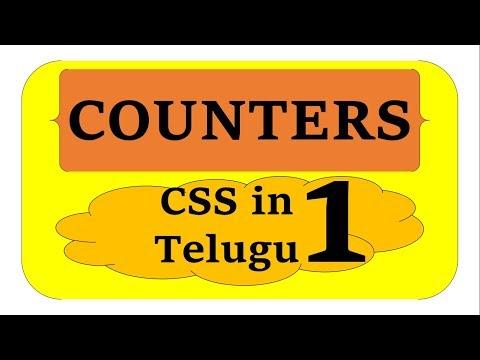 CSS Counters in Telugu Part-1 by Kotha Abhishek