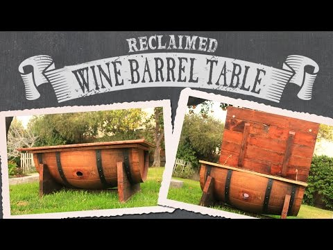 DIY WINE BARREL COFFEE TABLE