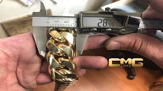 How 2000 Grams of Solid Gold is made into a Cuban Link Chain.