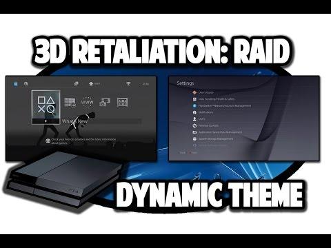 [PS4 THEMES] 3D Retaliation: Raid Dynamic Theme Video in 60FPS