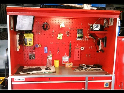 Custom Top Hutch For 56 Inch Harbor Freight Tool Box.