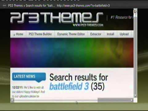 how to download custom themes on your ps3 tutorial