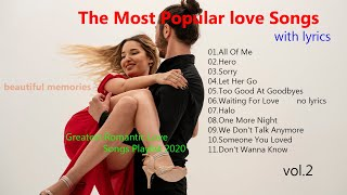 Lewis Capaldi,Enrique Iglesias,Charlie Puth,Justin Bieber/The Most Popular love Songs  2020 vol.2