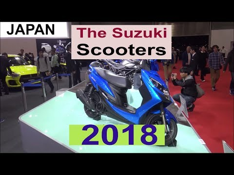The 2018 Suzuki scooters - Show Room JAPAN