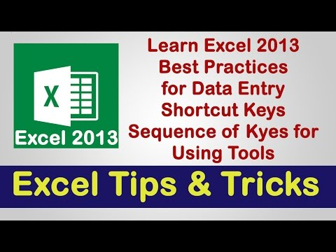 Excel 2013 | Best Practice, Tips & Tricks | Veer Tutorial