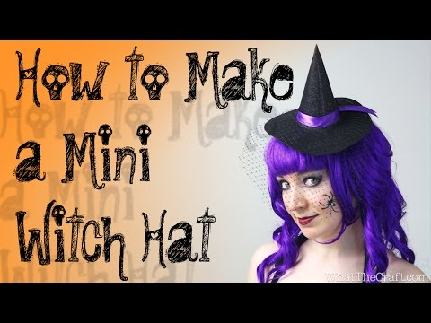 DiY Halloween Tutorial - How to Make a Mini Witch Hat