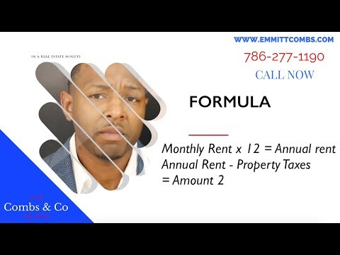 Investment Formula for Real Estate : Cap Rate : No Real Estate Agent!