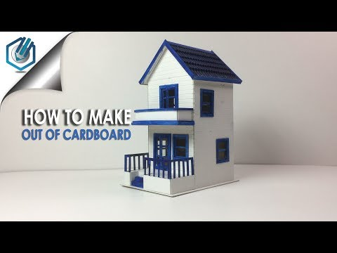 How i made VINTAGE HOUSE   | out of mountboard
