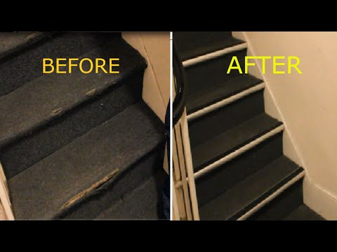 How to Repair Damaged Carpet on Stairs, nosing strip
