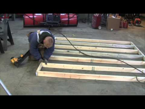 Building the 8x8 shed - Framing walls and erecting building