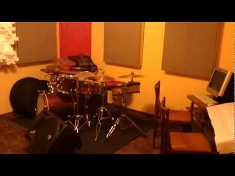 Acoustically treated rehearsal room