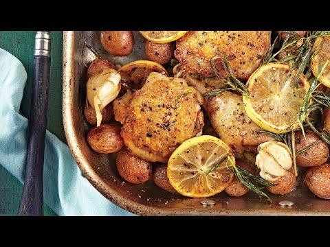 Lemon-Rosemary-Garlic Chicken and Potatoes | Southern Living