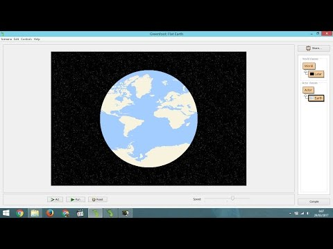 How to Draw Flat Map to Circle of The Earth and Animated it in Greenfoot
