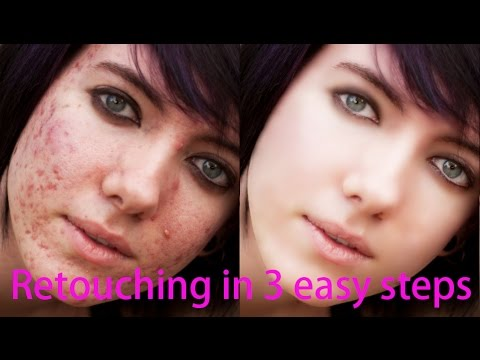 Photoshop Tutorial : How to retouch skin in Photoshop