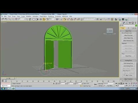 3DS Max Tutorials: Making Round Door from very easiest way