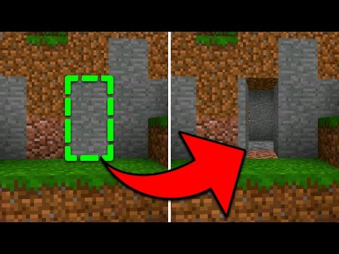 How To Make a Perfect Hidden Base in Minecraft Pocket Edition (Secret Door Textures)
