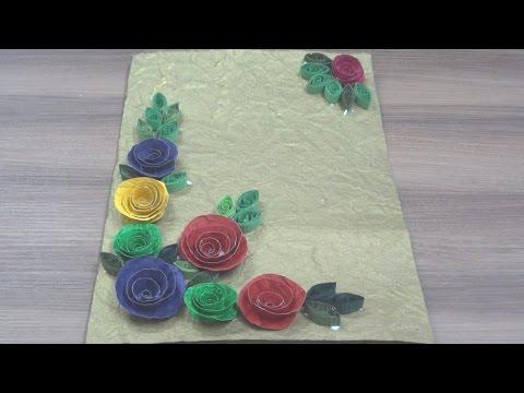 DIY~Greeting Card~Hand Made Sheet Flowers~Simple Steps