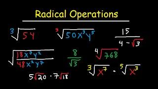 Simplifying Radical Expressions Adding Subtracting Multiplying Dividi