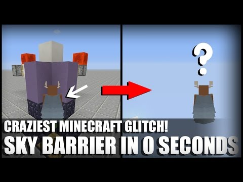 Crazy Minecraft Glitch Xbox One / Ps4 (TU47 SKY BARRIER IN 0 SECONDS)