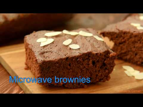Microwave Brownies - Easy and Quick Brownies Recipe