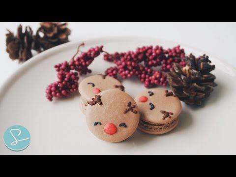 RUDOLPH MACARONS (Baileys Chocolate Ganache) - Sumopocky