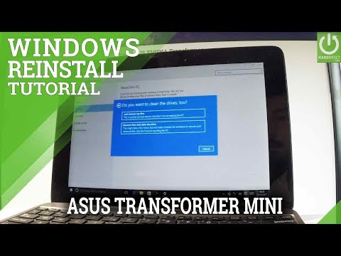 Reinstall Windows in ASUS Transformer Mini - Hard Reset / Format