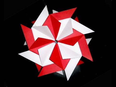 Easy Origami flower ornament - Christmas ornament