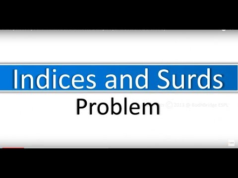 Surds and Indices Example-2:GRE Math Tricks and Tips(IBPS/SSC/GATE/BANK PO)