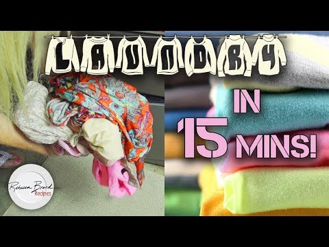 How to do a 15 Minute Load of Laundry | Quick Wash of Clothes or Towels