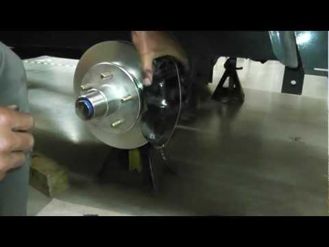 Asian Bass Guy UFP DB-42 Trailer brakes hub, disc, pads, install part2